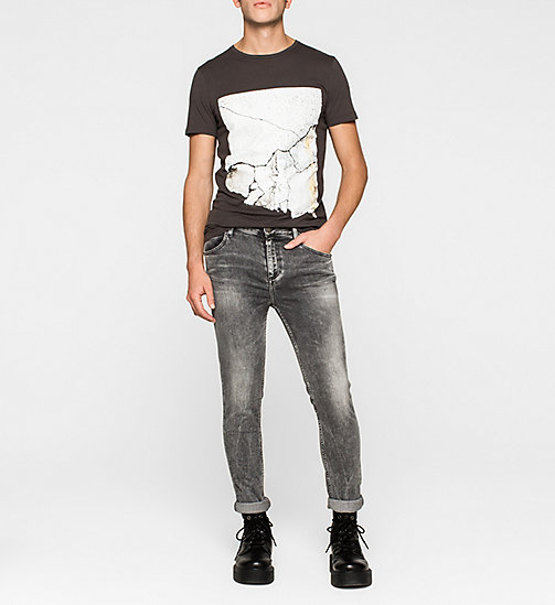 Regular Crackle Print T-shirt - PHANTOM - CK JEANS  - detail image 1