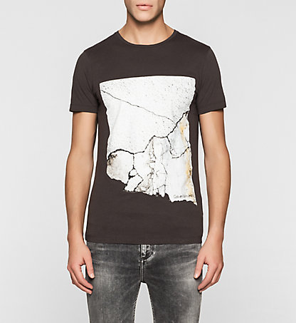 CALVIN KLEIN JEANS Regular T-Shirt mit Crackle-Print J30J304571092