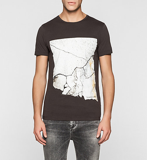 CKJEANS Regular Crackle Print T-shirt - PHANTOM - CK JEANS T-SHIRTS - main image