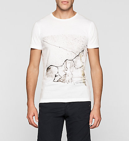 CALVIN KLEIN JEANS Regular T-Shirt mit Crackle-Print J30J304571112