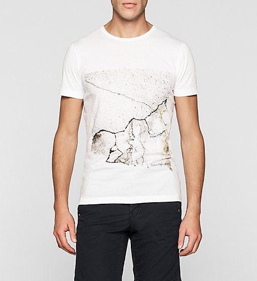 Regular Crackle Print T-shirt - BRIGHT WHITE - CK JEANS CLOTHES - main image