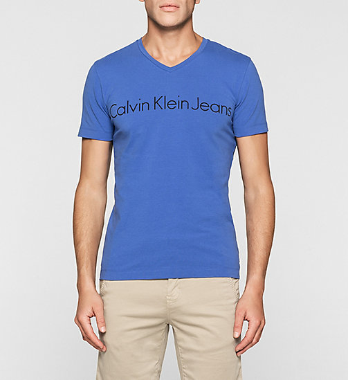CKJEANS Regular Logo T-shirt - DAZZLING BLUE - CK JEANS SUMMER SHOP FOR HIM - main image