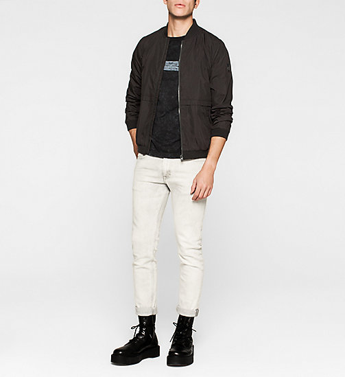 Regular Cotton Piqué T-shirt - CK BLACK - CK JEANS  - detail image 1