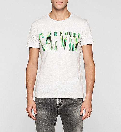 CKJEANS Regular Logo T-shirt - WHITE HEATHER - CK JEANS T-SHIRTS - main image