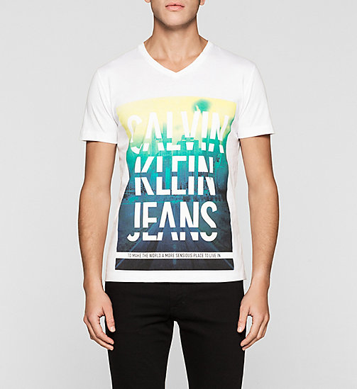 CKJEANS Regular Logo T-shirt - BRIGHT WHITE - CK JEANS T-SHIRTS - main image