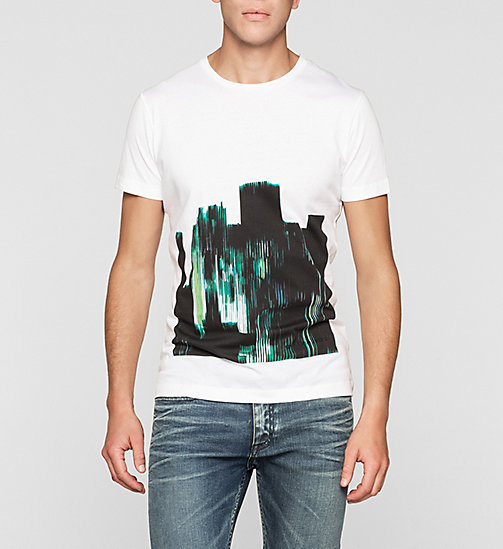 Camiseta regular estampada - BRIGHT WHITE - CK JEANS CAMISETAS - imagen principal