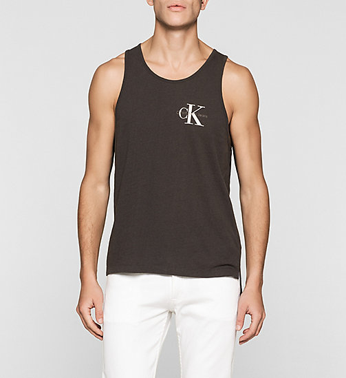 Linen Blend Tank Top - PHANTOM - CK JEANS T-SHIRTS - main image