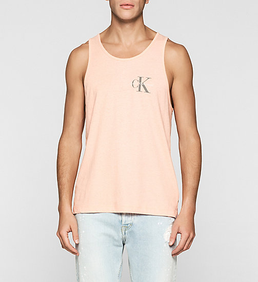 Linen Blend Tank Top - PEACH BEIGE - CK JEANS T-SHIRTS - main image