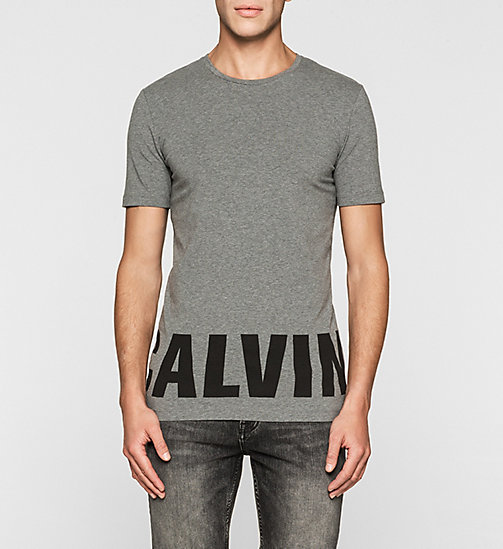 T-shirt con logo slim - MID GREY HEATHER - CK JEANS T-SHIRT - immagine principale