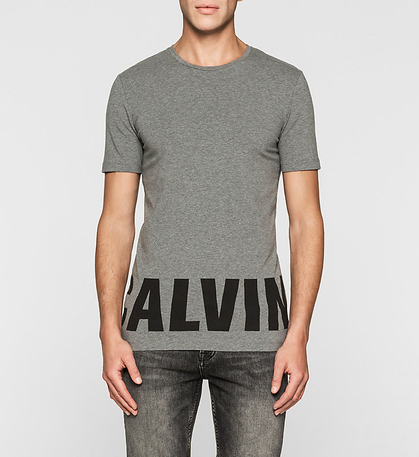 CKJEANS Slim Logo T-shirt - MID GREY HEATHER - CK JEANS CLOTHES - main image