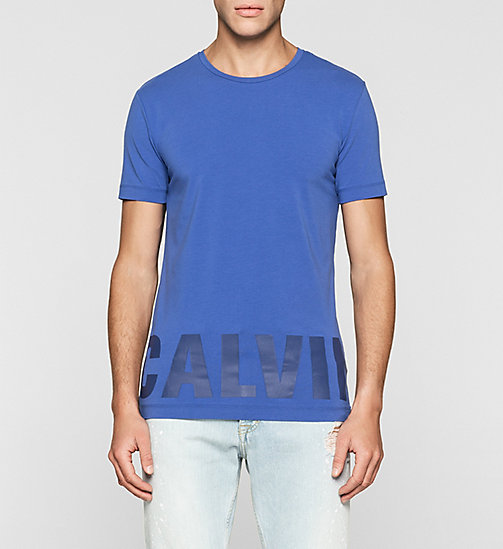 Slim Logo T-shirt - DAZZLING BLUE - CK JEANS CLOTHES - main image