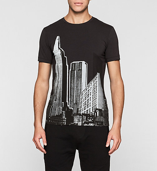Slim Printed T-shirt - CK BLACK - CK JEANS CLOTHES - main image