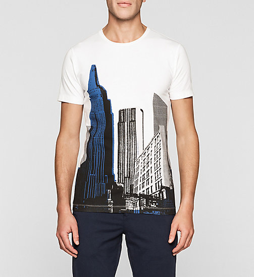 Slim Printed T-shirt - BRIGHT WHITE - CK JEANS CLOTHES - main image