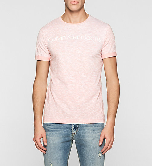 Regular Logo T-shirt - PEACH BEIGE - CK JEANS CLOTHES - main image