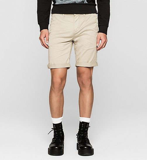 Regular Chino Shorts - PLAZA TAUPE - CK JEANS  - main image