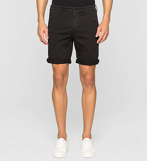 Regular Chino Shorts - CK BLACK - CK JEANS SHORTS - main image