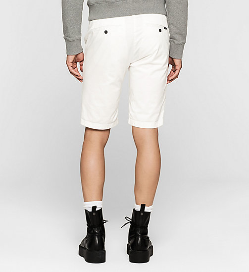 CKJEANS Regular Chino Shorts - BRIGHT WHITE - CK JEANS SUMMER SHOP FOR HIM - detail image 1
