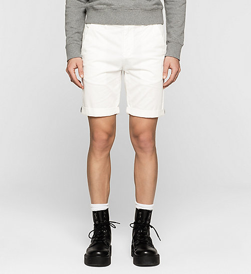 Short chino regular - BRIGHT WHITE - CK JEANS SHORTS - image principale