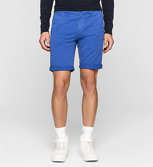 Short chino regular - DAZZLING BLUE - CK JEANS SHORTS - image principale