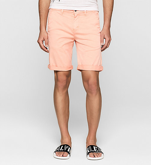 Short chino regular - PEACH BEIGE - CK JEANS SHORTS - image principale
