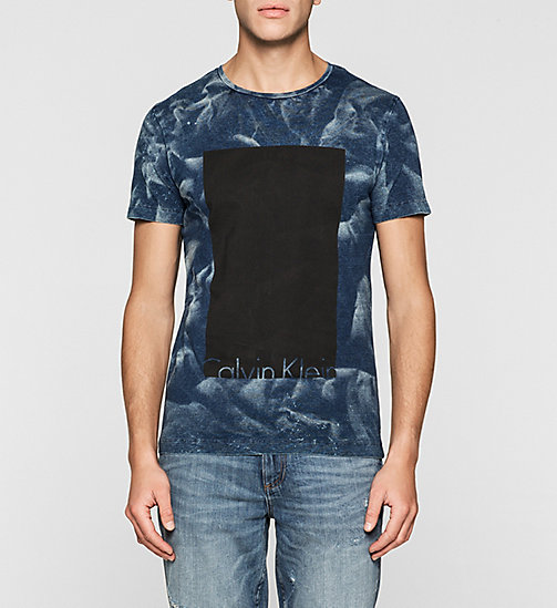 CKJEANS Regular Logo T-shirt - INDIGO 3 - CK JEANS MEN - main image