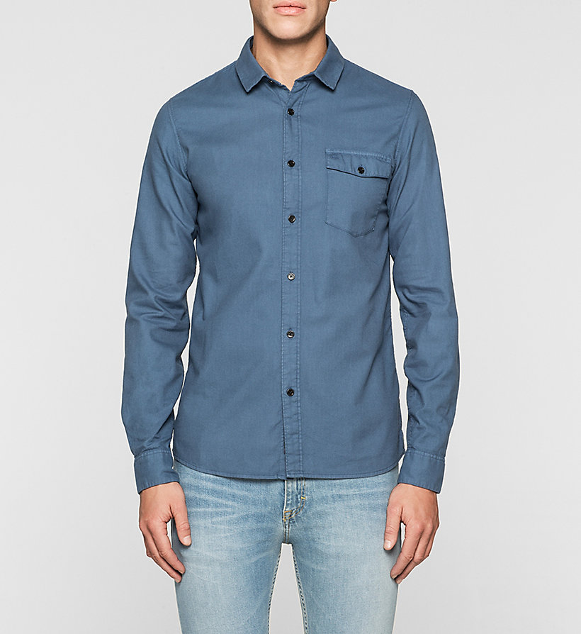 CKJEANS Slim Shirt - TRUE NAVY - CK JEANS SHIRTS - main image