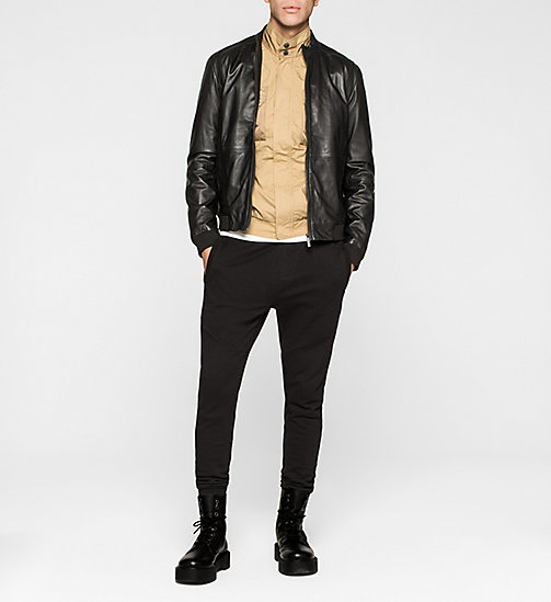 CKJEANS Leather Biker Jacket - TOMMY BLACK - CK JEANS MEN - detail image 1