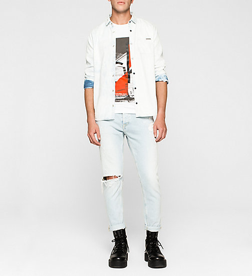 Slim Logo-T-Shirt - BRIGHT WHITE - CK JEANS T-SHIRTS - main image 1