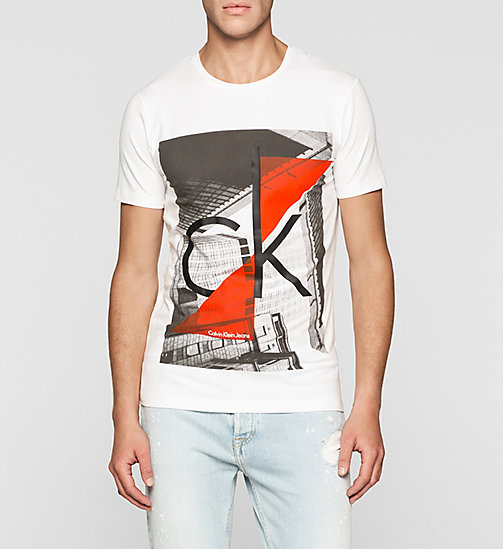 Slim Logo-T-Shirt - BRIGHT WHITE - CK JEANS T-SHIRTS - main image