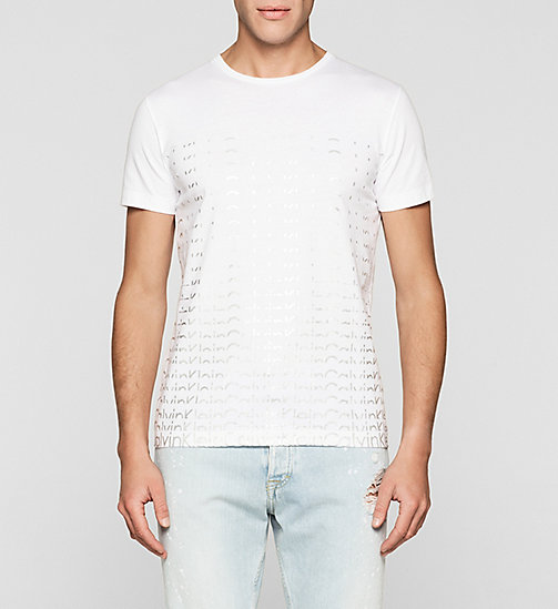 CKJEANS Regular Logo T-shirt - BRIGHT WHITE - CK JEANS MEN - main image