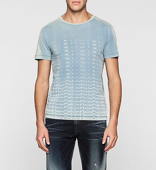 CKJEANS Regular Logo T-shirt - LIGHT INDIGO - CK JEANS MEN - main image