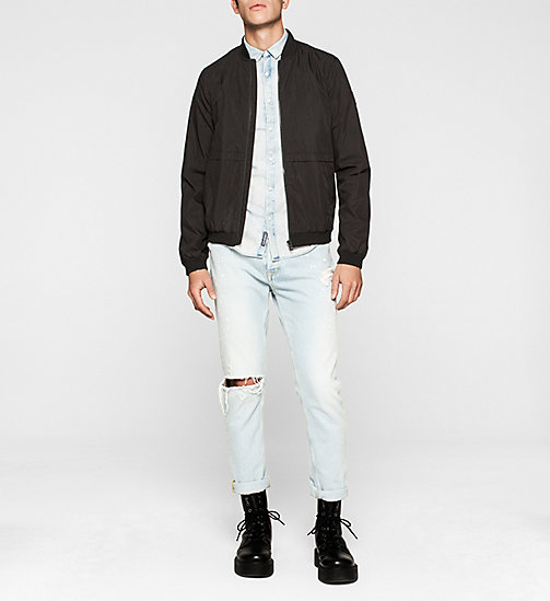 CKJEANS Slim Denim Shirt - HEAVY BLEACH - CK JEANS SUMMER SHOP FOR HIM - detail image 1