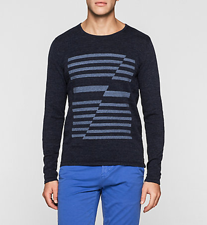 CALVIN KLEIN JEANS Stripe Knit Sweater J30J304606902
