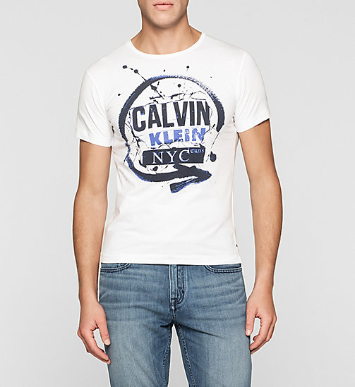 Slim Logo T-shirt - BRIGHT WHITE - CK JEANS CLOTHES - main image