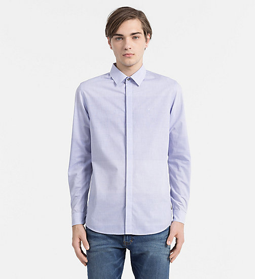 CALVIN KLEIN JEANS Slim Striped Shirt - BRIGHT WHITE / BLUE - CALVIN KLEIN JEANS CASUAL SHIRTS - main image