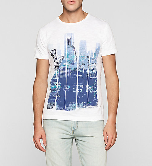 Regular Printed T-shirt - BRIGHT WHITE - CK JEANS T-SHIRTS - main image