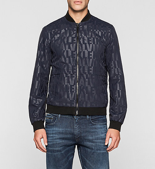 Logo Embossed Bomber Jacket - NIGHT SKY - CK JEANS OUTERWEAR - main image
