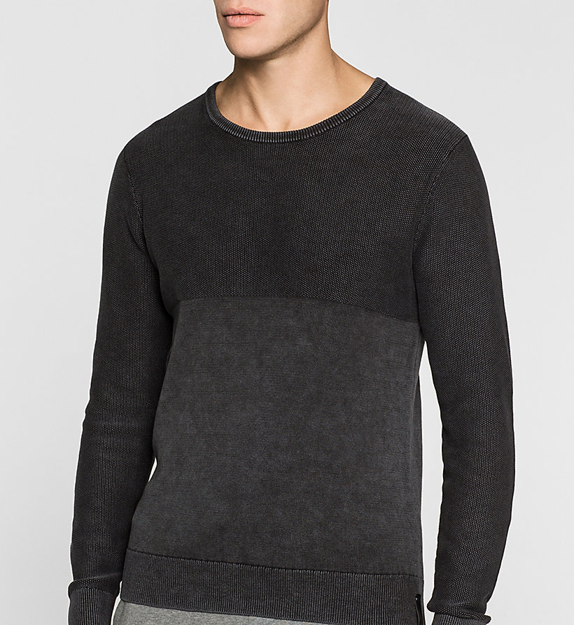CKJEANS Textured Sweater - CK BLACK - CK JEANS JUMPERS - detail image 2