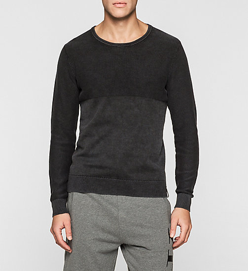 CKJEANS Textured Sweater - CK BLACK - CK JEANS MEN - main image