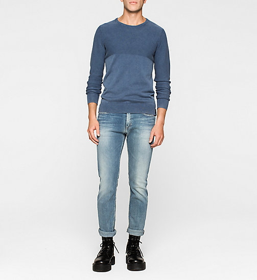 Textured Sweater - MID INDIGO - CK JEANS JUMPERS - detail image 1