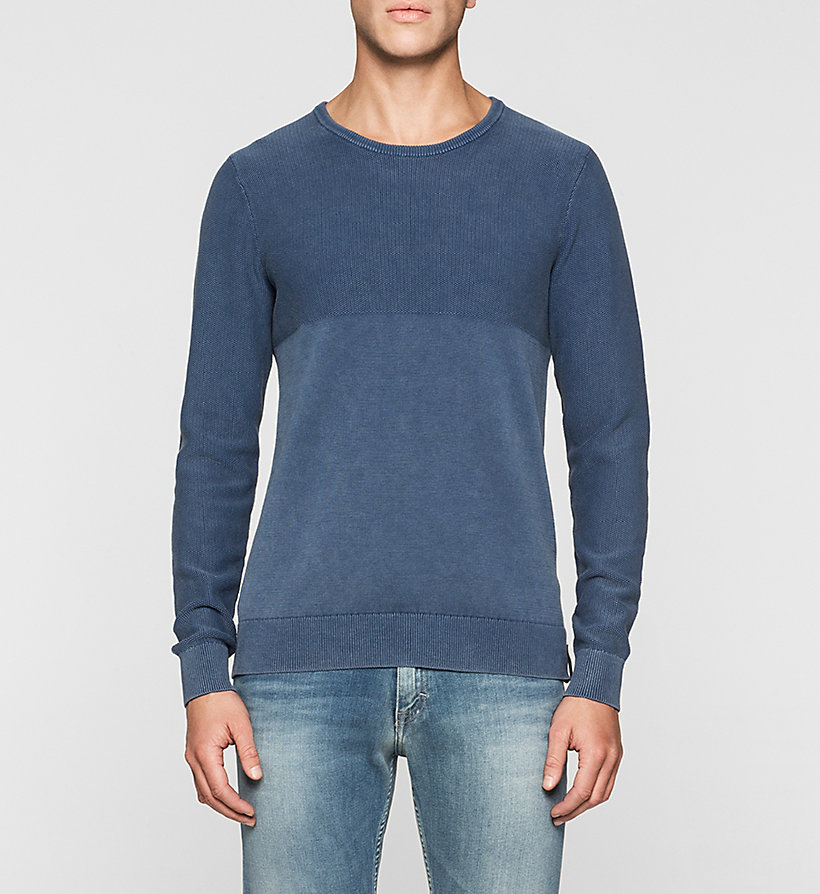 CKJEANS Textured Sweater - MID INDIGO - CK JEANS JUMPERS - main image