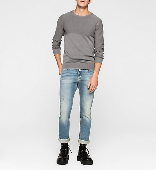 CKJEANS Textured Sweater - BRUSHED NICKEL - CK JEANS MEN - detail image 1