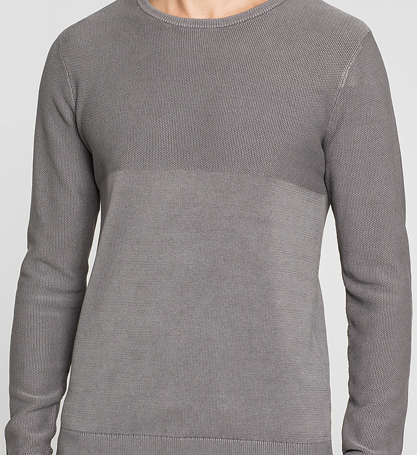 CKJEANS Textured Sweater - BRUSHED NICKEL - CK JEANS JUMPERS - detail image 2