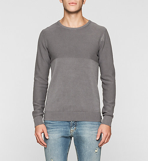 CKJEANS Textured Sweater - BRUSHED NICKEL - CK JEANS MEN - main image