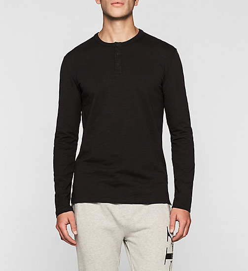 CKJEANS Langärmeliges Henley-Shirt - CK BLACK - CK JEANS VIP SALE MEN - main image