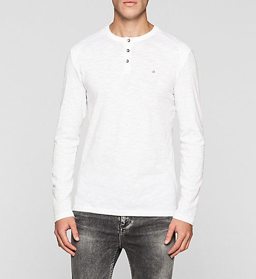CKJEANS Langärmeliges Henley-Shirt - BRIGHT WHITE - CK JEANS VIP SALE MEN - main image