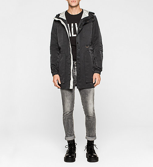 Hooded Jacket - CK BLACK - CK JEANS OUTERWEAR - detail image 1