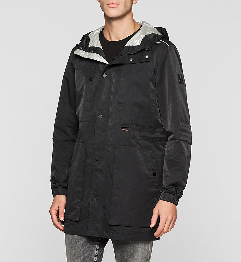CKJEANS Hooded Jacket - CK BLACK - CK JEANS OUTERWEAR - main image