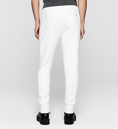 CKJEANS Logo Sweatpants - BRIGHT WHITE - CK JEANS SUMMER SHOP FOR HIM - detail image 1