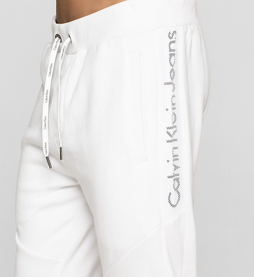 CKJEANS Logo Sweatpants - BRIGHT WHITE - CK JEANS TROUSERS - detail image 2